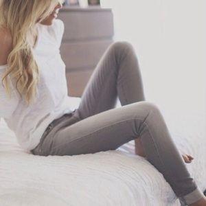 Madewell Rail Straight Grey Jeans